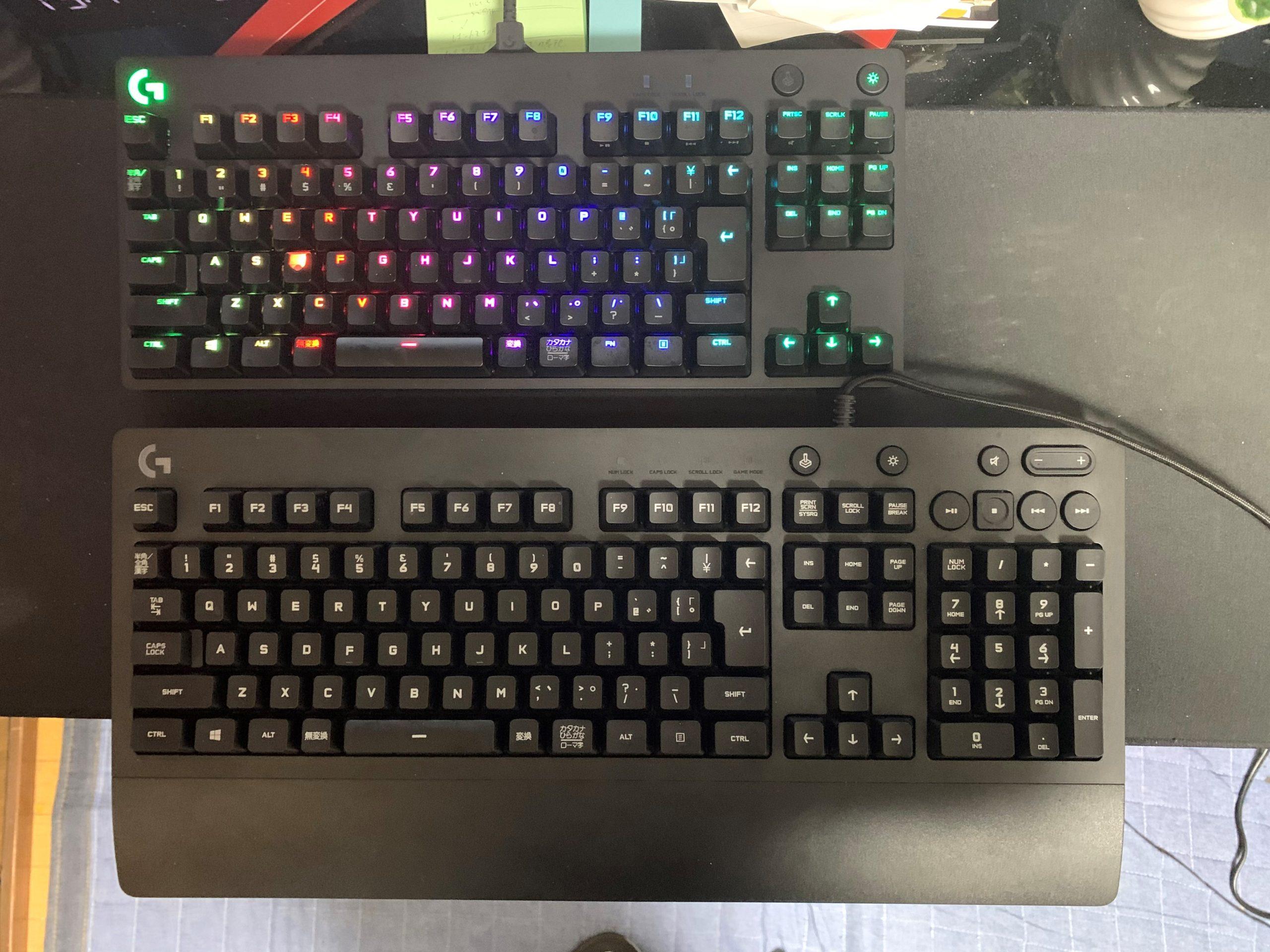 G PRO X キーボード レビュー テンキーレス