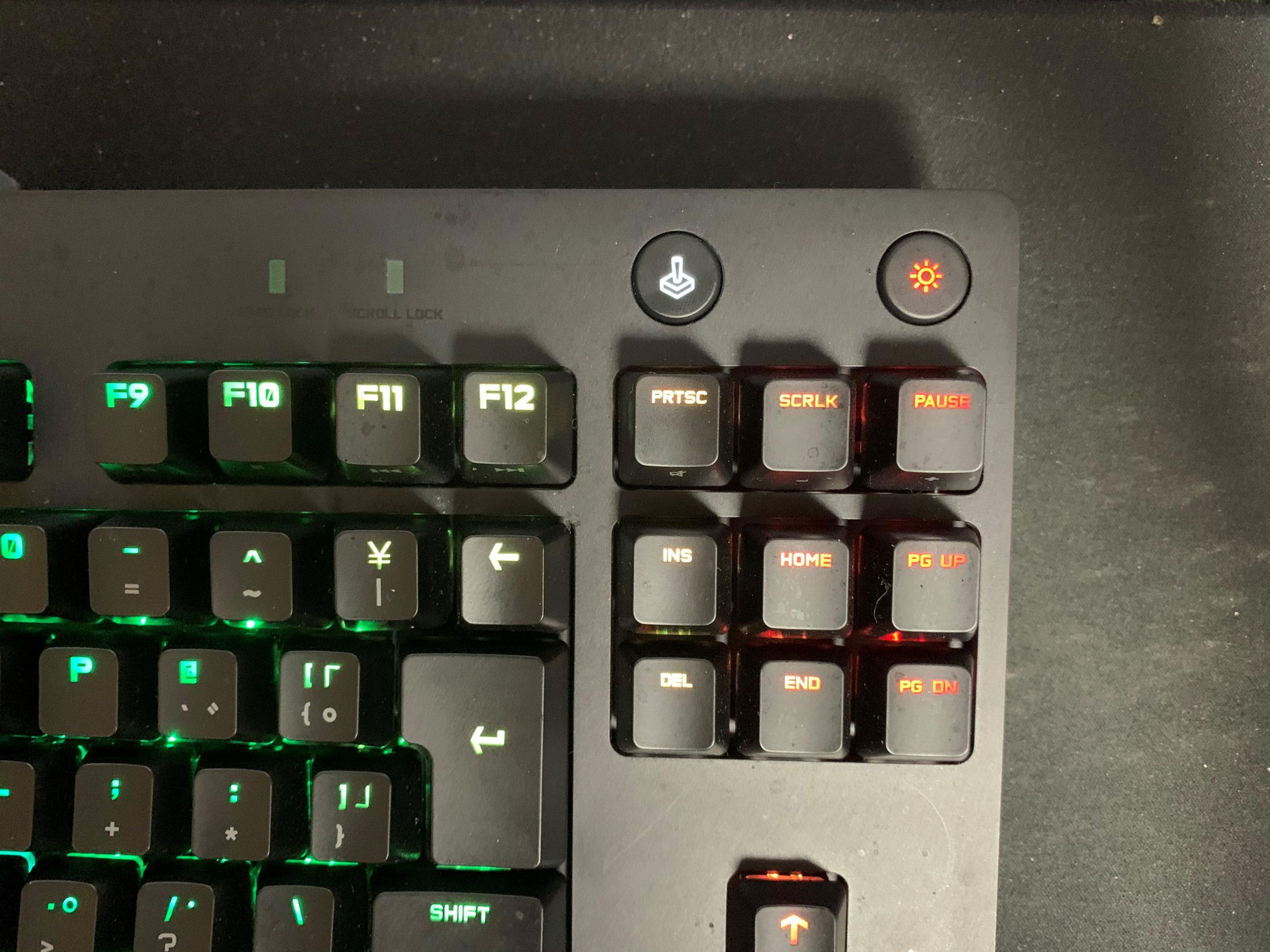 G PRO X キーボード レビュー ゲームモード